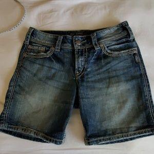 Silver brand shorts